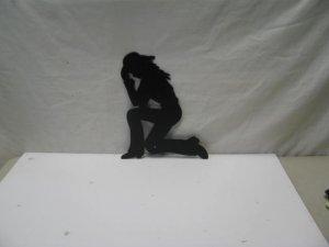 Western Praying Cowgirl 008 Metal Art Silhouette