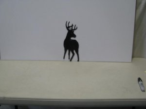 Buck 006 Wildlife Metal Art Silhouette