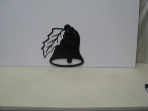 Christmas Bell 002 Metal Art Silhouette