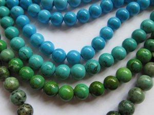 bulk  turquoise gemstone  round ball  green blue  jewelry  beads 8mm--5strands 16inch/per strand