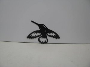 Hummingbird 007 Metal Wall Yard Art Silhouette