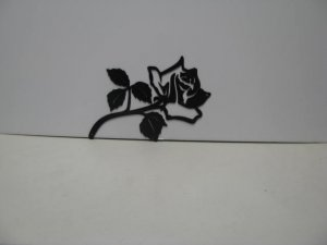 Rose 004 Metal Wall Yard Art Silhouette