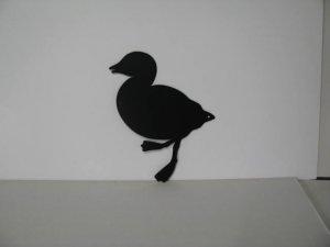 Duckling 001 Metal Wall Yard Art Silhouette