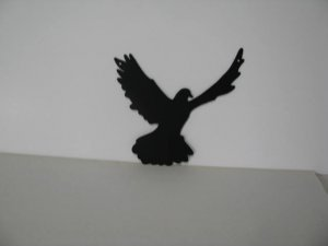 Dove Flying 006 Metal Wall Yard Art Silhouette
