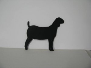 Goat 014 Metal Wall Yard Art Silhouette