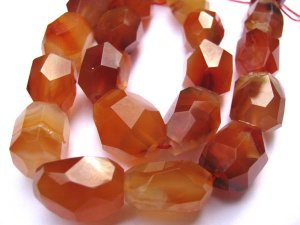 wholesale 13-18mm  bulk  genuine carnelian gemstone nuggets freeform faceted faceted  jewelry beads --2strands 16inch/L