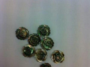 2strands 8 10 12mm top quality MOP shell mother of pearl rose florial flowers petal white black red  cabochons beads