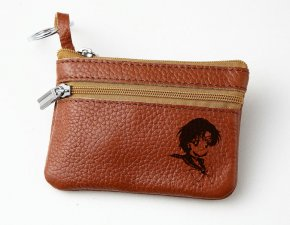 Sailor Moon Mercury Leather Zippered Coin Bag Key Pouch