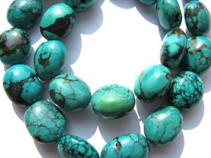 high quality genuine turquoise gemstone nuggets barrel  green blue tibetant jewelry beads 10-16mm--2strands 16inch/L