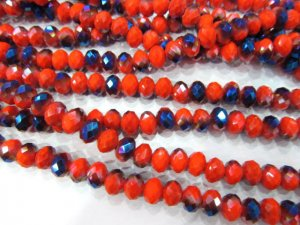 10strands 3x4 4x6 5x8 6x10mm crystal like swarovski bead rondelle abacus faceted crimson carmine  red blue jewelry bea