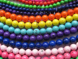 bulk 18mm turquoise gemstone  round ball  assortment  jewelry  beads --10strands 16inch/per strand --by express ship