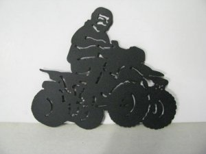 Four Wheeler 007 Metal Art Silhouette