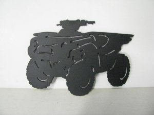Four Wheeler 009 Metal Art Silhouette