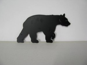 Bear Walking 442 Metal Art Silhouette