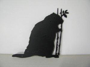 Beaver 184 Metal Art Silhouette