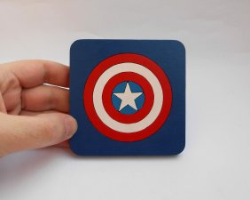 Handmade Caprtain America, Avengers coaster