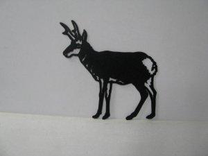 Antelope Standing Large Wildlife Metal Art Silhouette