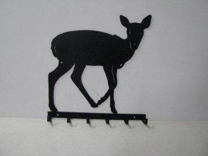 Deer 064 Standing 6 Hook Key Holder Wall Silhouette