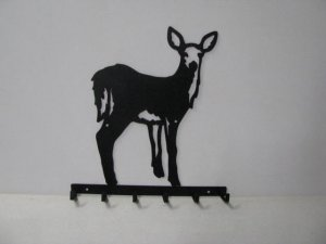 Deer 065 Standing 6 Hook Key Holder Wildlife Art