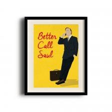 Better Call Saul, Saul Goodman minimalist poster, Better Call Saul digital art poster V2
