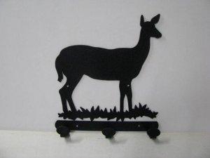 Deer Doe 003 3 Hook Coat Rack Silhouette