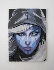 Handmade Drow Ranger Dota 2 Portrait On Craftisart