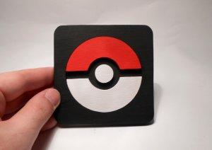Handmade Poke Ball, Pokemon coaster