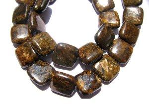 bulk natural bronzite gergous  10mm 5strands 16inch strand,square box golden jewelry beads