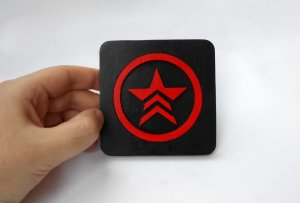 Handmade Mass Effect Renegade coaster