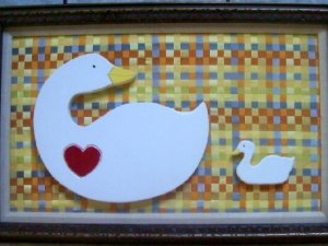 Goose With a Heart Wall Art