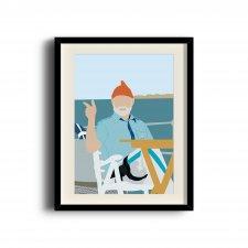 The Life Aquatic with Steve Zissou, Steve Zissou poster, Bill Murray digital art poster digital art poster
