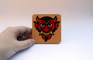 Handmade Devil's Kiss Bioshock Infinite Vigor coaster