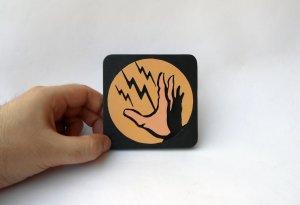 Handmade Electro Bolt Bioshock plasmid coaster