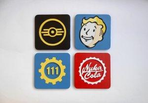 Handmade Fallout set of 4 coasters, Fallout coaster set