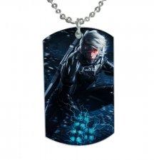 Metal Gear Rising Raiden Dog Tag Pendant Necklace