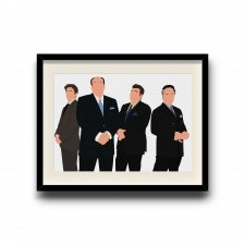 The Sopranos minimalist poster, The Sopranos digital art poster
