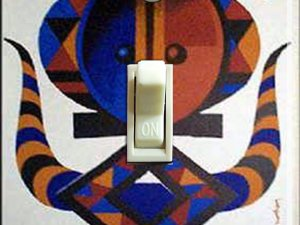 Vintage Air France AFRICA Travel Poster Switch Plate