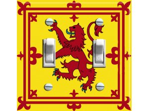 ROYAL STANDARD of SCOTLAND  Switch Plate (double)