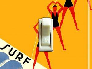 AUSTRALIA SURF CLUB Vintage Poster Switch Plate (single)