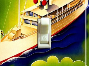 SWEDEN GOTA Canal Vintage Travel Poster Switch Plate (single)