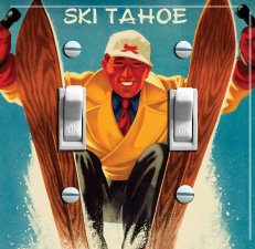 SKI TAHOE/Truckee Vintage Switch Plate (double)
