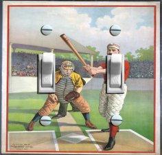 1895 Baseball  Home Plate Illustration (Double)