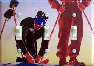 NORGE (Norway) Vintage Ski Poster Switch Plate (triple)