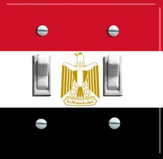 EGYPTIAN Flag Double Switch Plate