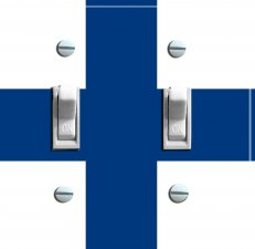 FINLAND Flag Double Switch Plate