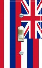 HAWAII State Flag Single Switch Plate