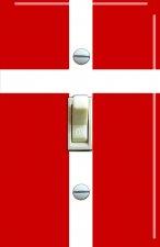 DENMARK Flag Single Switch Plate