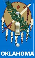 OKLAHOMA State Flag Single Switch Plate