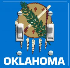 OKLAHOMA State Flag Double Switch Plate
