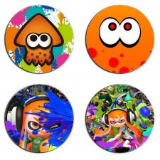 Splatoon Squid Set Of 4 Wood Drink Coasters